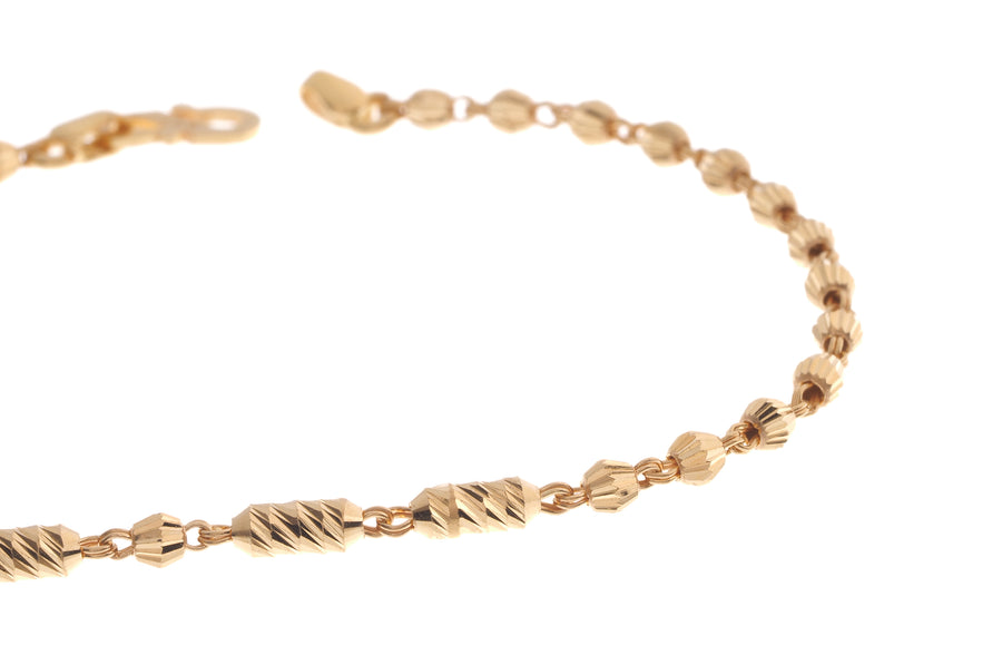 22ct Gold Ladies Bracelet with S clasp (3.3g) (LBR-7093)