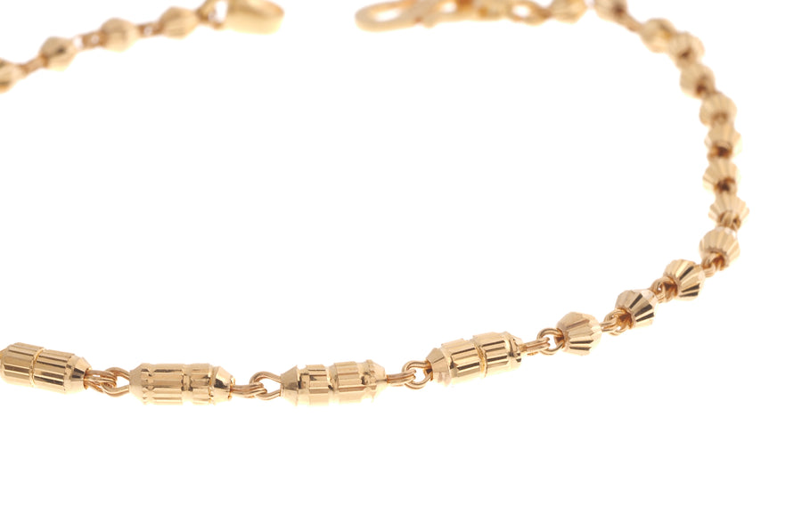 22ct Gold Ladies Bracelet with S clasp (3.1g) (LBR-7095)