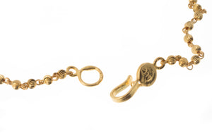 22ct Gold Bracelet with Diamond Cut Design (4g) LBR-7276