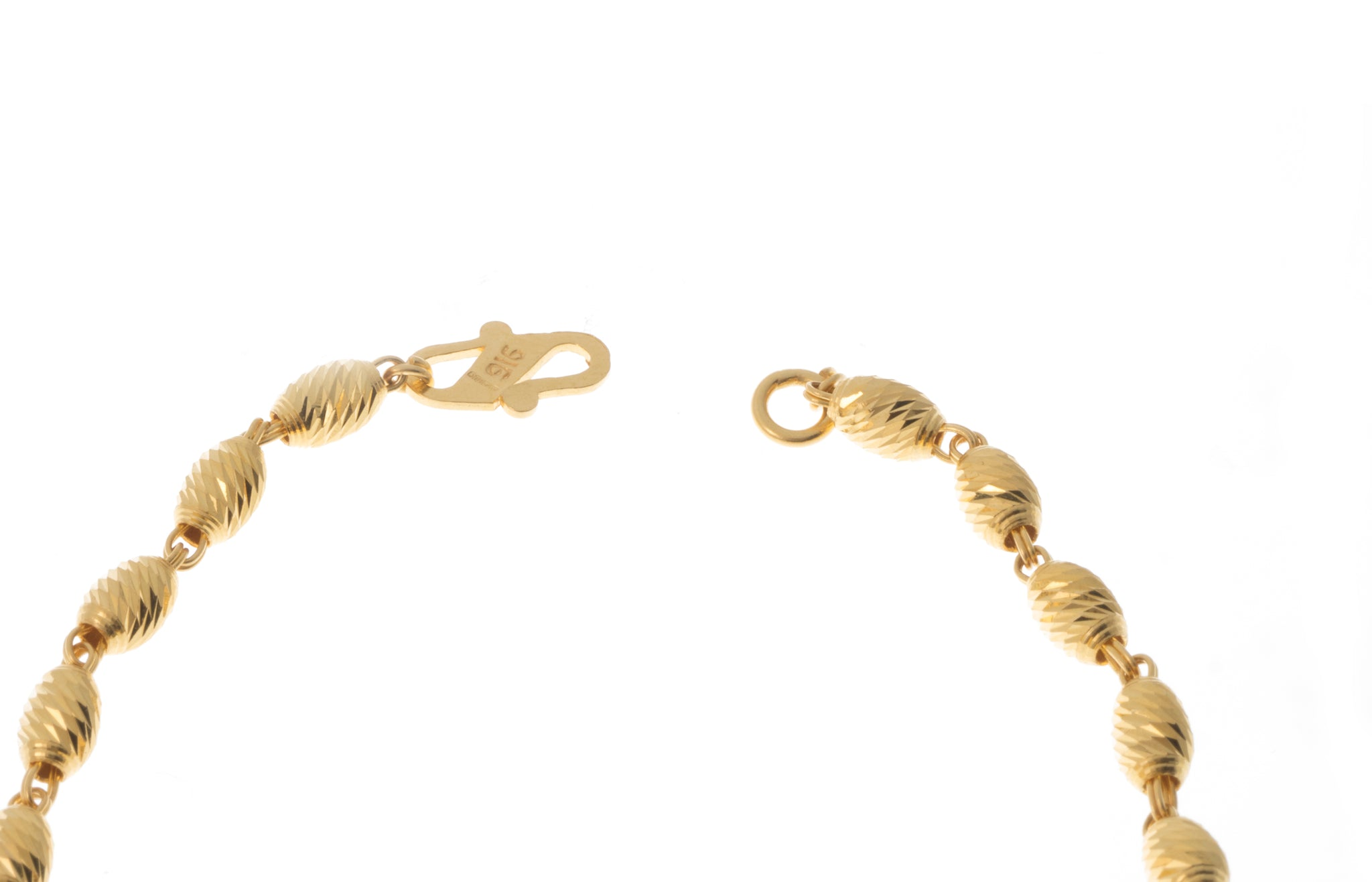 22ct Gold Bracelet with Diamond Cut Design (6g) LBR-7392