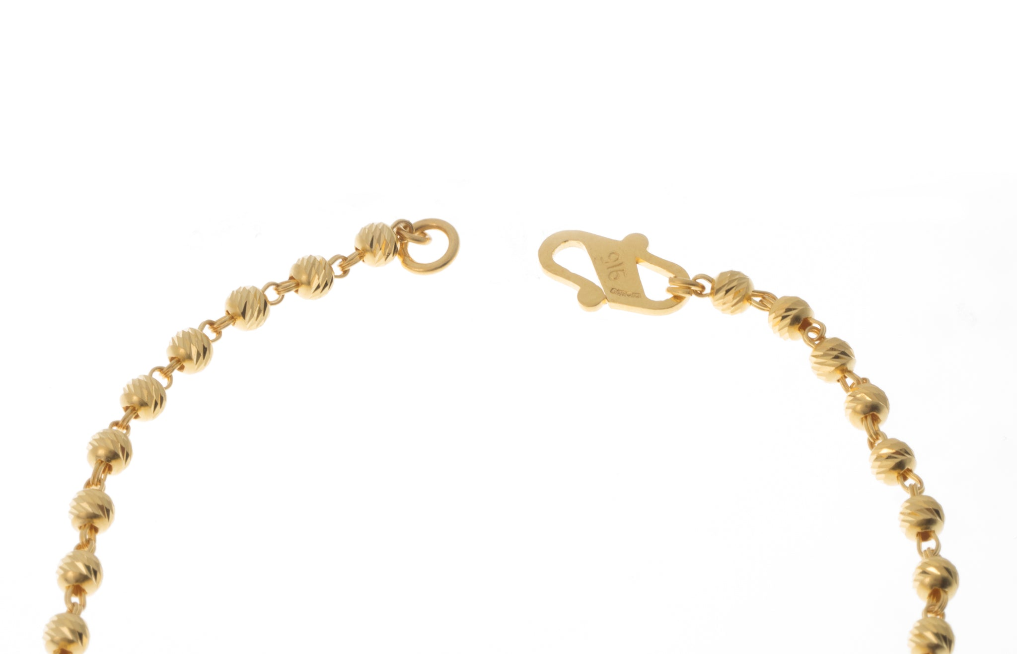 22ct Gold Bracelet with Diamond Cut Design (4.8g) LBR-7393