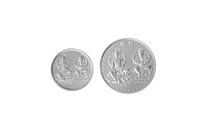 Sterling Silver Coin featuring Lakshmi and Ganesh (LG5-10)