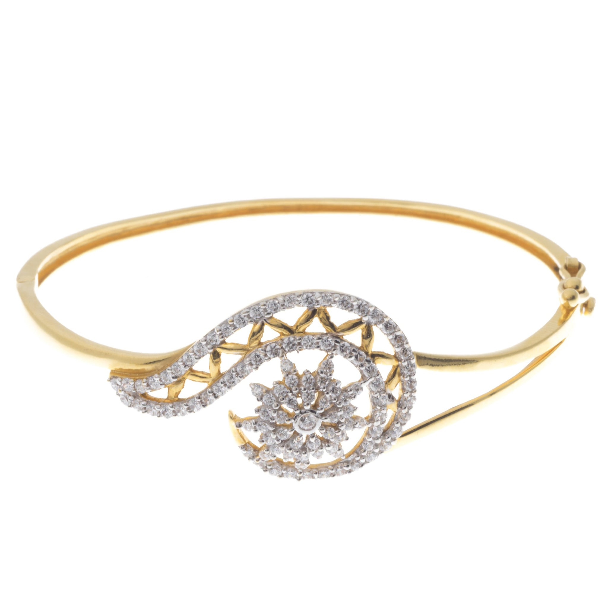 22ct Gold Cubic Zirconia Bangle (12.99g) LKB15020