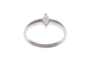 18ct White Gold Marquise Diamond Engagement Ring (ZS05885R)