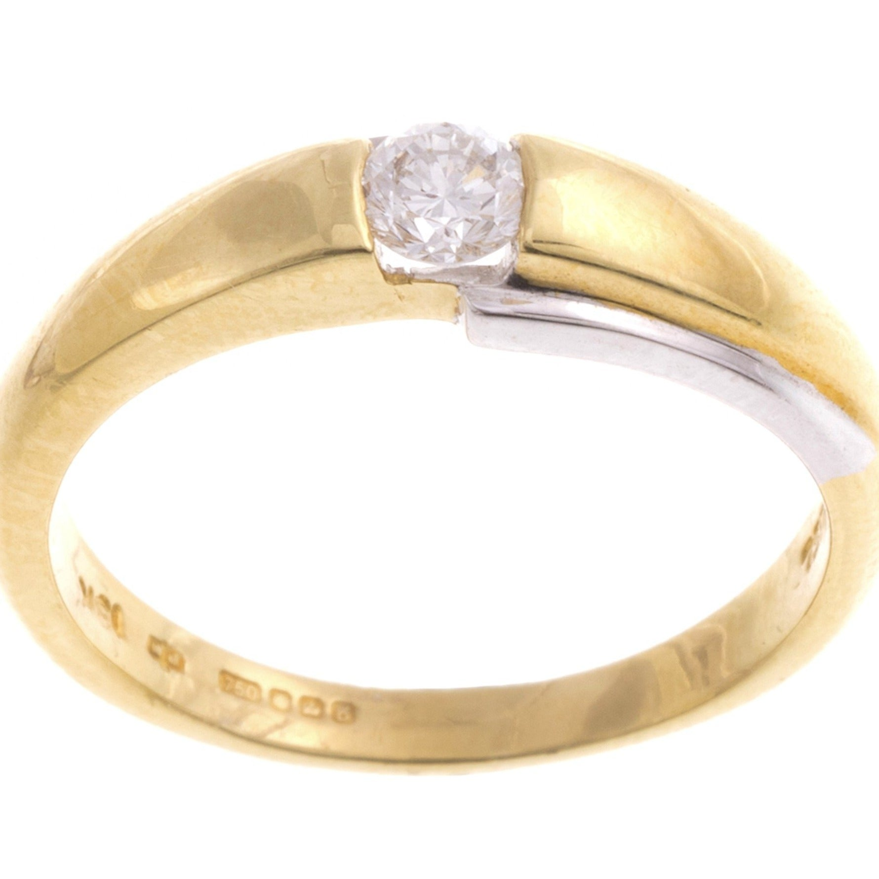 18ct Two Tone Gold Diamond Ring (YPR4565)