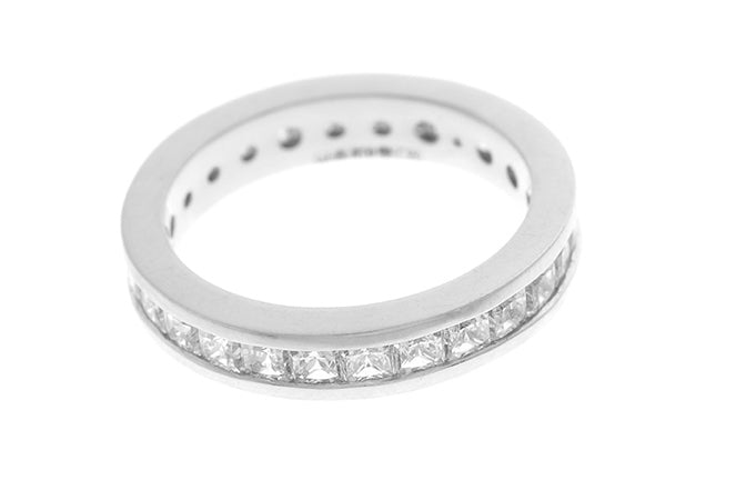 Gold Cubic Zirconia Eternity Ring LR-2291