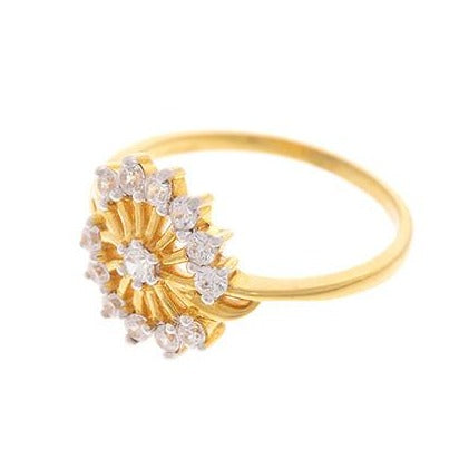 22ct Yellow Gold Cubic Zirconia Dress Ring (LR-2337)