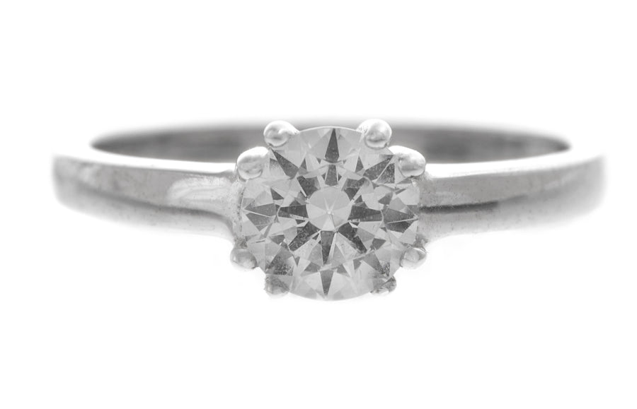 18ct White Gold Engagement Ring set with Cubic Zirconia (LR-2361)