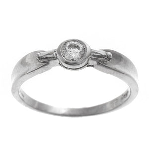 18ct White Gold Cubic Zirconia Dress Ring (LR-2362)
