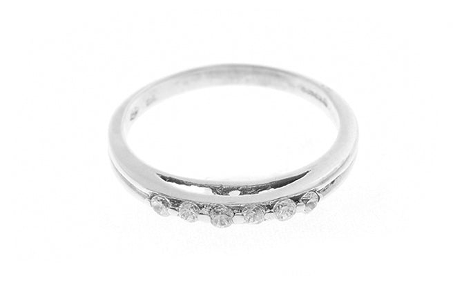 18ct White Gold Cubic Zirconia Dress Ring (3.2g) LR-2395