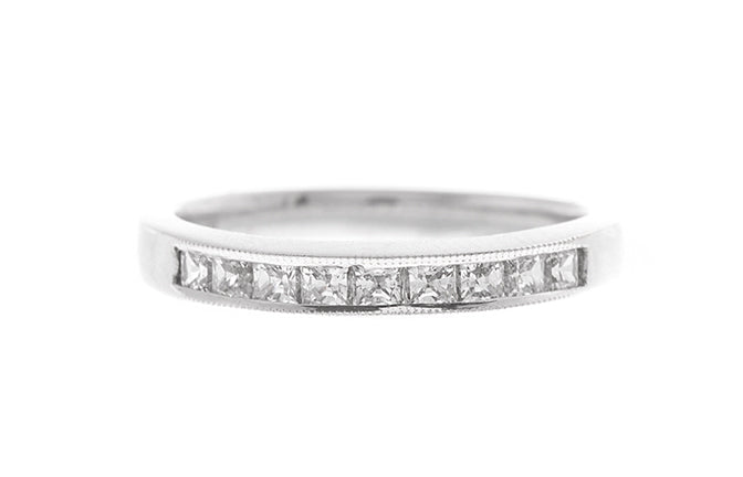 18ct White Gold Cubic Zirconia 1/3 Eternity Ring (LR-2414)