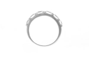 18ct White Gold Cubic Zirconia Half Eternity Ring (LR-2419)