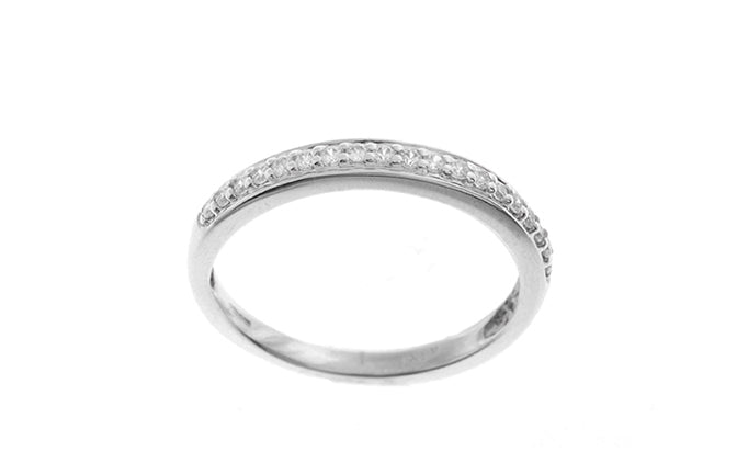 18ct White Gold Cubic Zirconia Half Eternity Ring (LR-2428)