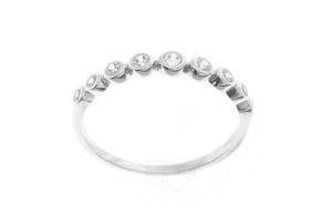 18ct White Gold Cubic Zirconia Half Eternity Ring (LR-2430)