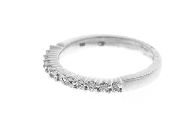 18ct White Gold Cubic Zirconia Half Eternity Ring (LR-2432)
