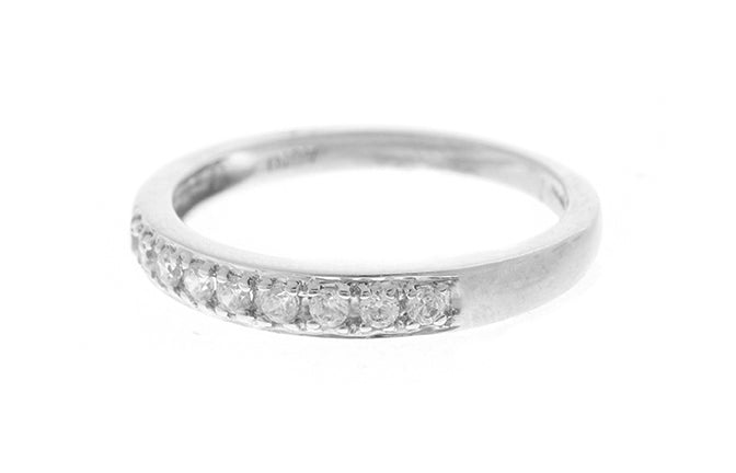 18ct White Gold Cubic Zirconia 1/3 Eternity Ring (LR-2435)