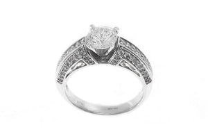 18ct White Gold Cubic Zirconia Engagement Ring (LR-2437)
