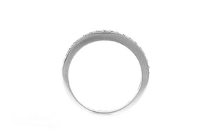 18ct White Gold Cubic Zirconia Half Eternity Ring (LR-2437)