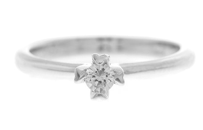 18ct White Gold Cubic Zirconia Engagement Ring (3.3g) LR-2443