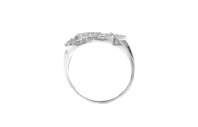 18ct White Gold Cubic Zirconia Dress Ring (2.2g) LR-2481