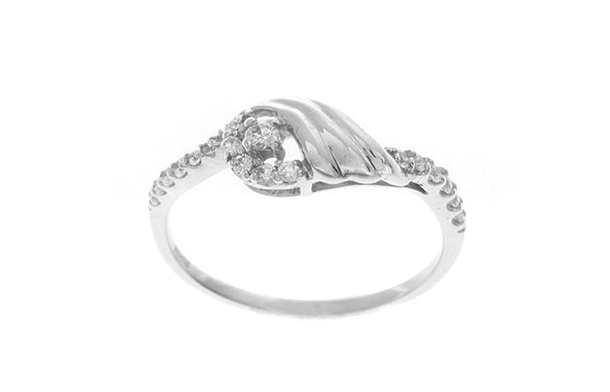 18ct White Gold Cubic Zirconia Dress Ring (LR-2490)