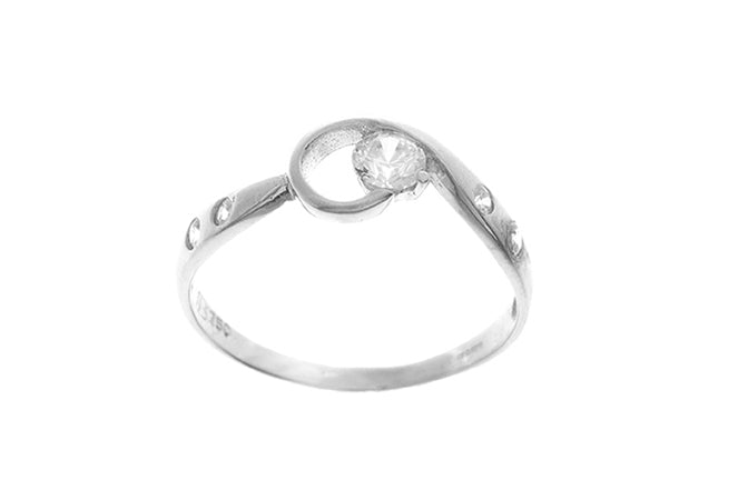 18ct White Gold Cubic Zirconia Dress Ring (LR-2492)