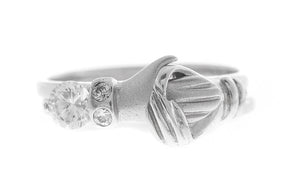 18ct White Gold Friendship Ring set with Cubic Zirconias (LR-2495)