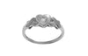 18ct White Gold 'Heart' Dress Ring set with Cubic Zirconias (LR-2510)
