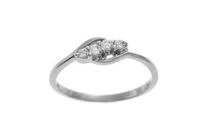 18ct White Gold Cubic Zirconia Dress Ring (LR-2520)