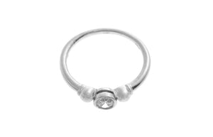 18ct White Gold Cubic Zirconia Engagement Ring (LR-2529)