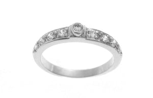 18ct White Gold Cubic Zirconia Engagement Ring (LR-2536)