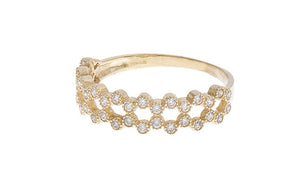 18ct Yellow Gold Cubic Zirconia Half Eternity Ring, Minar Jewellers - 2