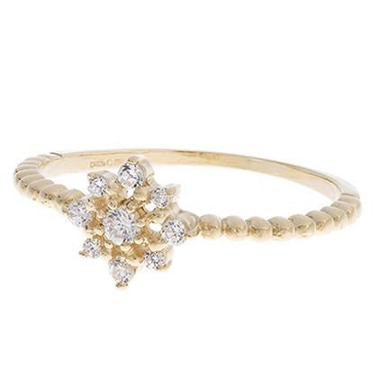 18ct White / Yellow Gold Cubic Zirconia Dress Ring, Minar Jewellers - 1