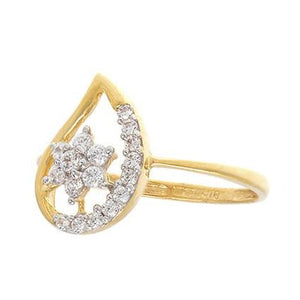 22ct Yellow Gold Cubic Zirconia 'Mango' Dress Ring (LR15257)