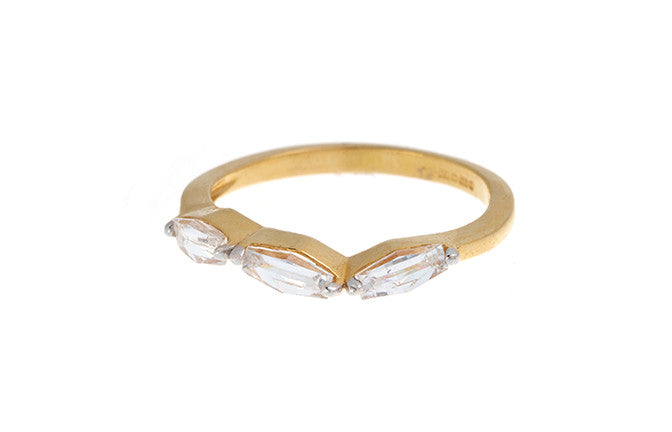 22ct Gold Cubic Zirconia Dress Ring LR-3512