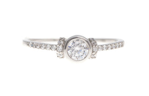 18ct White / Yellow Gold Cubic Zirconia Engagement Ring (LR-3844) (online price only)
