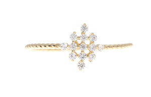 18ct White / Yellow Gold Cubic Zirconia Engagement Ring, Minar Jewellers - 3