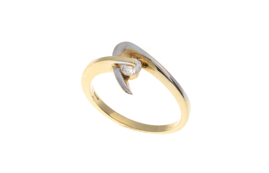 18ct Yellow Gold Cubic Zirconia Dress Ring, Minar Jewellers - 1