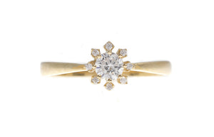 18ct White / Yellow Gold Cubic Zirconia Engagement Ring, Minar Jewellers - 2