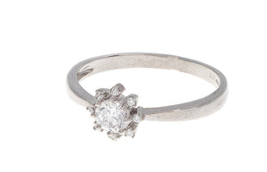 18ct White / Yellow Gold Cubic Zirconia Engagement Ring, Minar Jewellers - 5