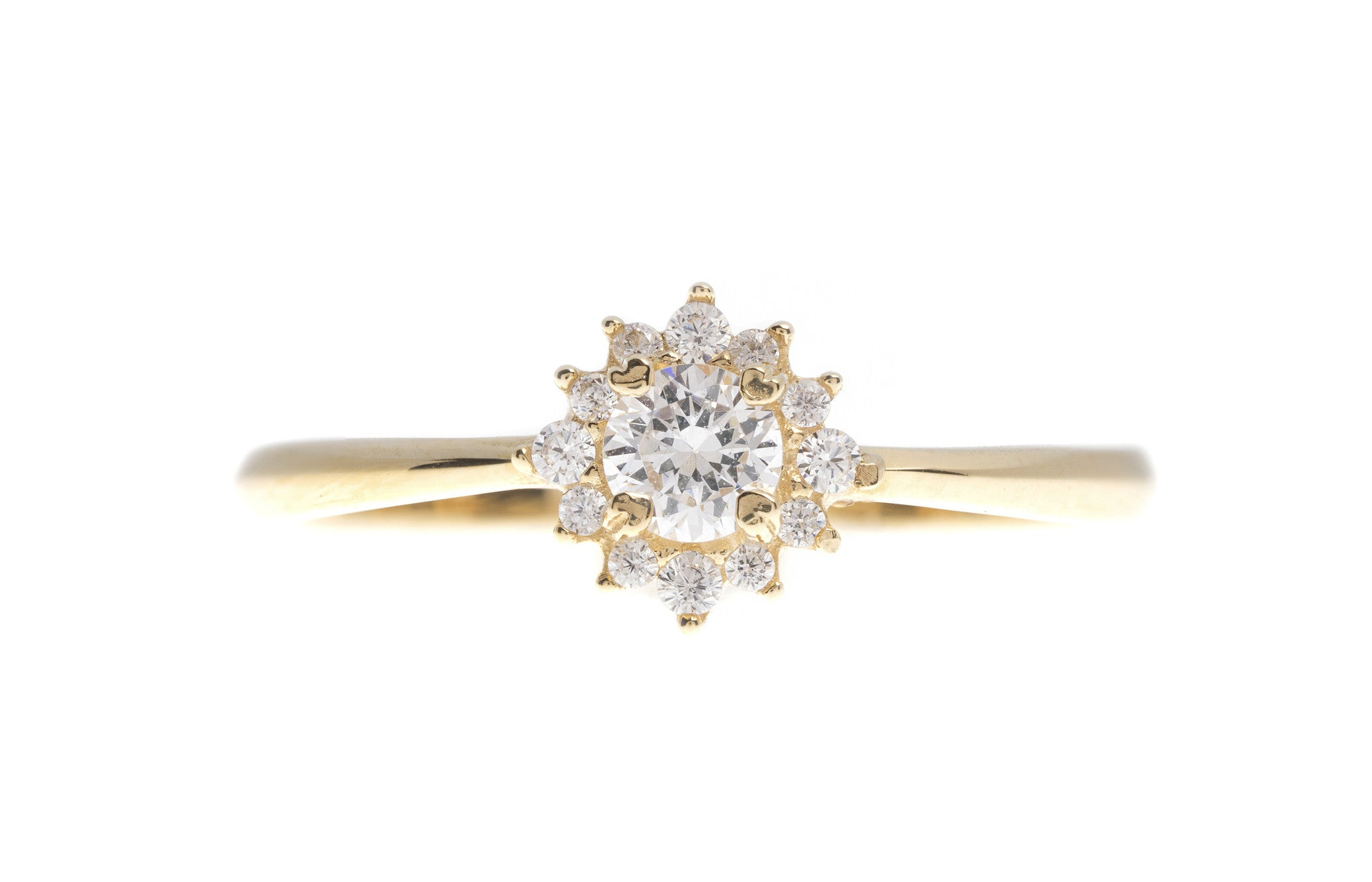 18ct White / Yellow Gold Cubic Zirconia Dress Ring, Minar Jewellers - 2
