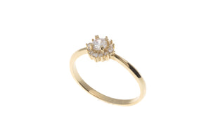 18ct White / Yellow Gold Cubic Zirconia Dress Ring, Minar Jewellers - 4