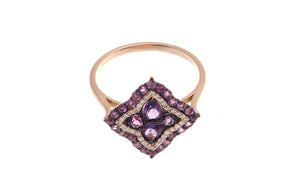 18ct Rose Gold Amethyst & Diamond Dress Ring, Minar Jewellers - 2