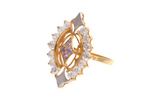 22ct Yellow Gold & Cubic Zirconia Dress Ring, Minar Jewellers - 1