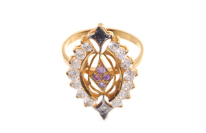 22ct Yellow Gold & Cubic Zirconia Dress Ring, Minar Jewellers - 2