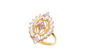 22ct Yellow Gold & Cubic Zirconia Dress Ring, Minar Jewellers - 3