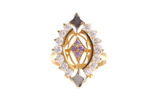 22ct Yellow Gold & Cubic Zirconia Dress Ring, Minar Jewellers - 4