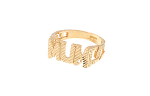 22ct Yellow Gold 'MUM' Dress Ring (LR-4189)