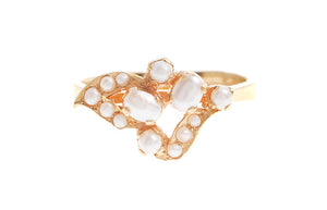 22ct Yellow Gold Cultured Pearl Dress Ring (LR-4217)
