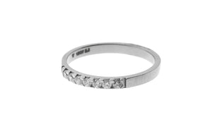 18ct White Gold Cubic Zirconia Quarter Eternity Ring (LR-4333)